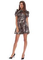 3365 Платье коричневый