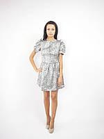 3435 Платье серый