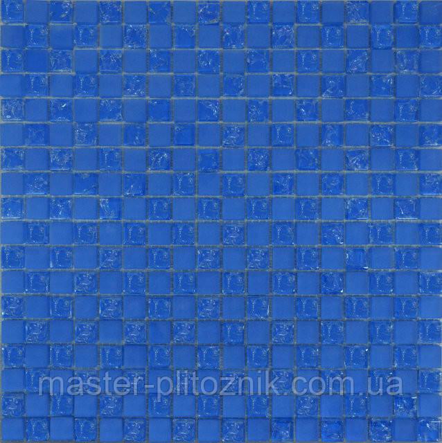 Мозаика матовый-голубой колотый