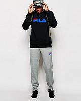 Спортивный костюм FILA(темно-серый с эмблемой), Реплика