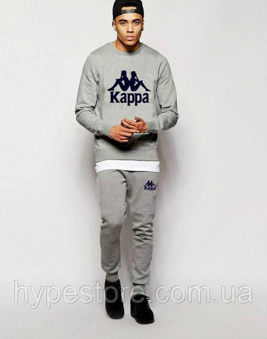 Спортивный костюм Kappa(серый с эмблемой), Реплика