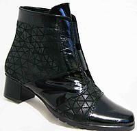 Кожаные ботинки весна на каблуке большого размера, обувь кожа большие размеры от производителя модель МИ5172-4