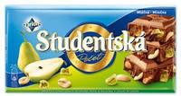 Шоколад молочный Studentska с грушей и арахисом Чехия 180г, фото 2