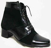Ботинки весна кожа замш женские на каблуке большие р-р, ботинки женские весна от производителя МИ5172-3