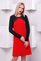 Стильное женское красное  платье Elizabeth   FashionUp 42-48  размеры
