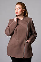 Пальто на молнии короткое
