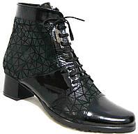 Кожаные ботинки весна на каблуке большого размера, обувь кожа большие размеры от производителя модель МИ5172-2