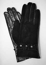Женские замшевые перчатки с кожаной ладошкой кожа лайка на шерсти