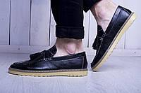 Лоферы мужские туфли классика черные