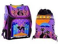"""Ранец школьный,и сумка для сменки """"Кошки"""" Vombato, фото 1"""