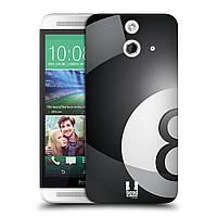 Пластиковый чехол для HTC One E8 узор Бильярдный шар