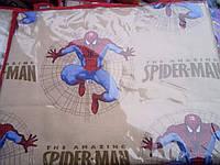 Детское полуторное постельное белье бязь.Человек-паук