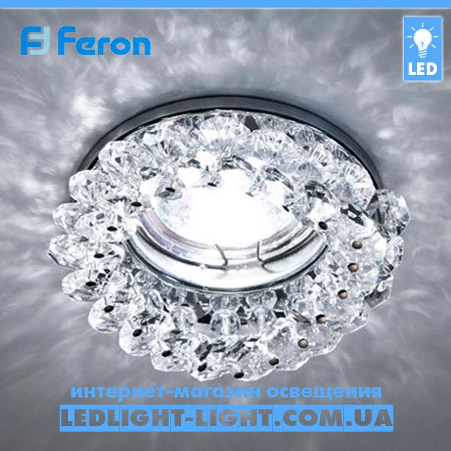 Врезной точечный светильник Feron CD4141 прозрачный  - хром