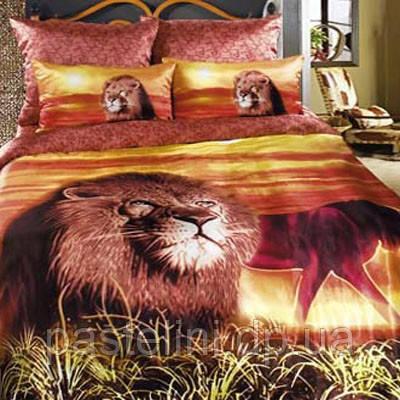 Love you  семейный комплект постельного белья Царь Зверей