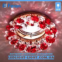 Врезной точечный светильник Feron CD4141 красное - золото