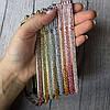 Металлический бампер на iPhone 8 цветными камнями