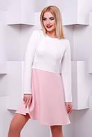 Стильное женское платье Jasmine розовый+белый   FashionUp 42-48  размеры