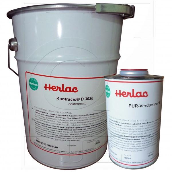 1-К Лак полиуретановый шелковисто-матовый Contracid D3030 HERLAC (200л.)