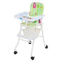 Кресло для кормления высокое Bambi Baby Медвежонок на колесиках