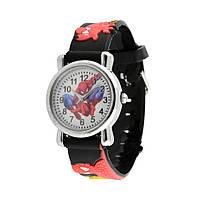 Часы детские кварцевые на силиконовом ремешке 72217 черные