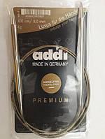 Спицы Адди круговые на золотой леске, латунь 8 мм х 100 см