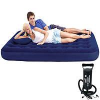 Надувной,двухспальный,матрас,с,насосом и подушками