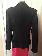 Піджак жіночий приталений чорний зелений довгий рукав весна-літо-осінь S. Oliver, фото 2