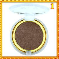 Тени темно коричневые матовые компактные одинарные Nuobeier № 599 тон 01