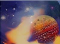 "Картина-часы (50х70 см) ""Планета"""