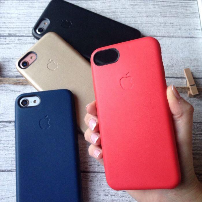 Кожаный чехол на iPhone 7 , цветные