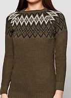 7258 свитер т.зеленый