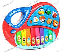 Детское пианино MP 4087/2216 A 11, размер 25*17*5 см, 8 клавиш, музыка, свет, звуки животных, на батарейках