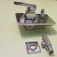 Встроенный смеситель для ванны на 2 выхода Hansberg, фото 1