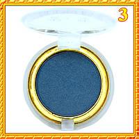 Тени синие матовые компактные одинарные Nuobeier № 599 тон 03
