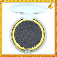 Тени темно серые матовые компактные одинарные Nuobeier № 599 тон 04