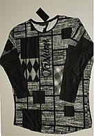 Блузка трикотажная женская Турция черная,ботал.