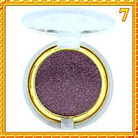 Тени темно фиолетовые матовые компактные одинарные Nuobeier № 599 тон 07