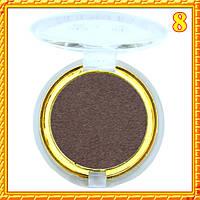 Тени серо коричневые матовые компактные одинарные Nuobeier № 599 тон 08
