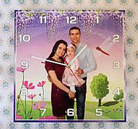 Часы Настенные с вашей семейной фотографией