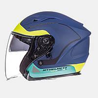 Мотошлем MT-Helmets Avenue SV Crossroad matt blue yellow
