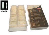 Типсы матовые овальные (б/к) 500 шт упаковка, типсы YRE YTA-07, материалы для маникюра купить в Харькове