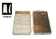 Типсы матовые (м/к) 100 шт упаковка, типсы YRE YTAM-01, типсы оптом