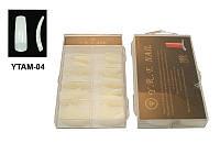 Типсы матовые (б/к) 100 шт упаковка, типсы YRE YTAM-04, наращивание на типсы фото