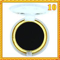 Тени черные матовые компактные одинарные Nuobeier № 599 тон 10