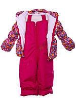 """Демисезонный костюм """"Кроха с бантиком"""" для девочки (Малиновый зоопарк)"""