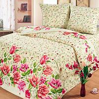 Постельное белье Солодкий Сон, двуспальное, дизайн Тюльпаны, наволочка 50*70