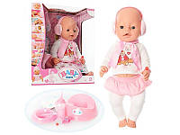 Кукла пупс интерактивный Беби Борн Baby Born аналог Zapf Creatio в наушниках 42 см