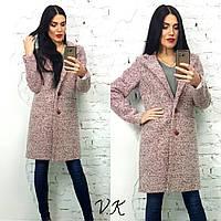 Пальто ткань шерстяной меланжевый кашемир
