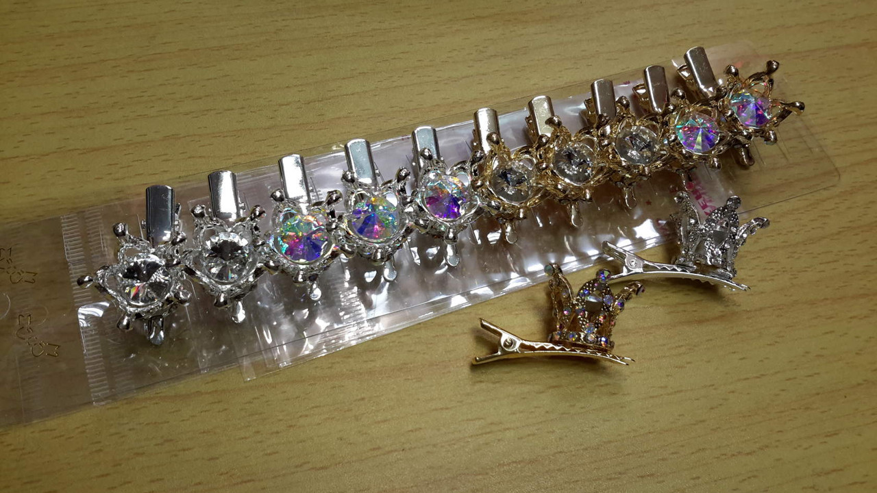 e5c870650e49 Заколки-Уточки/Мин.заказ 6шт/в уп 12шт/металлические с камнями ( короны):  продажа, ...