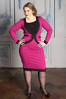 Платье большого размера с имитацией жакета
